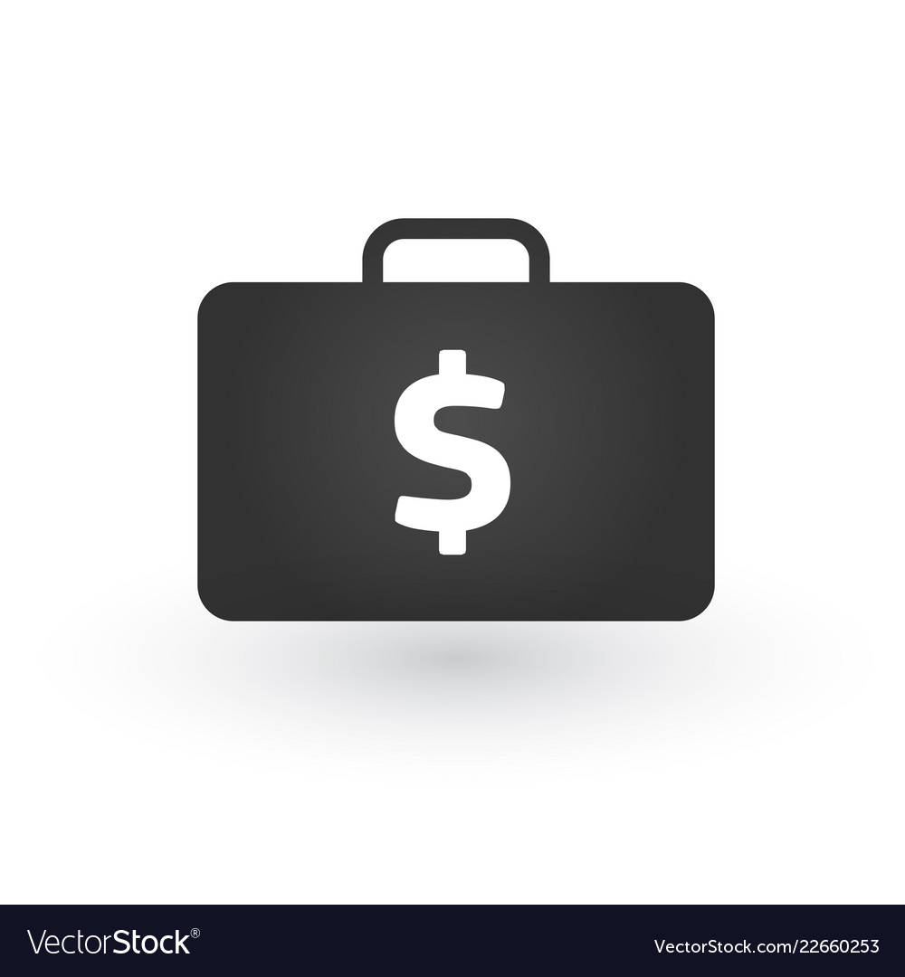 Suitcase with dollar symbol icon