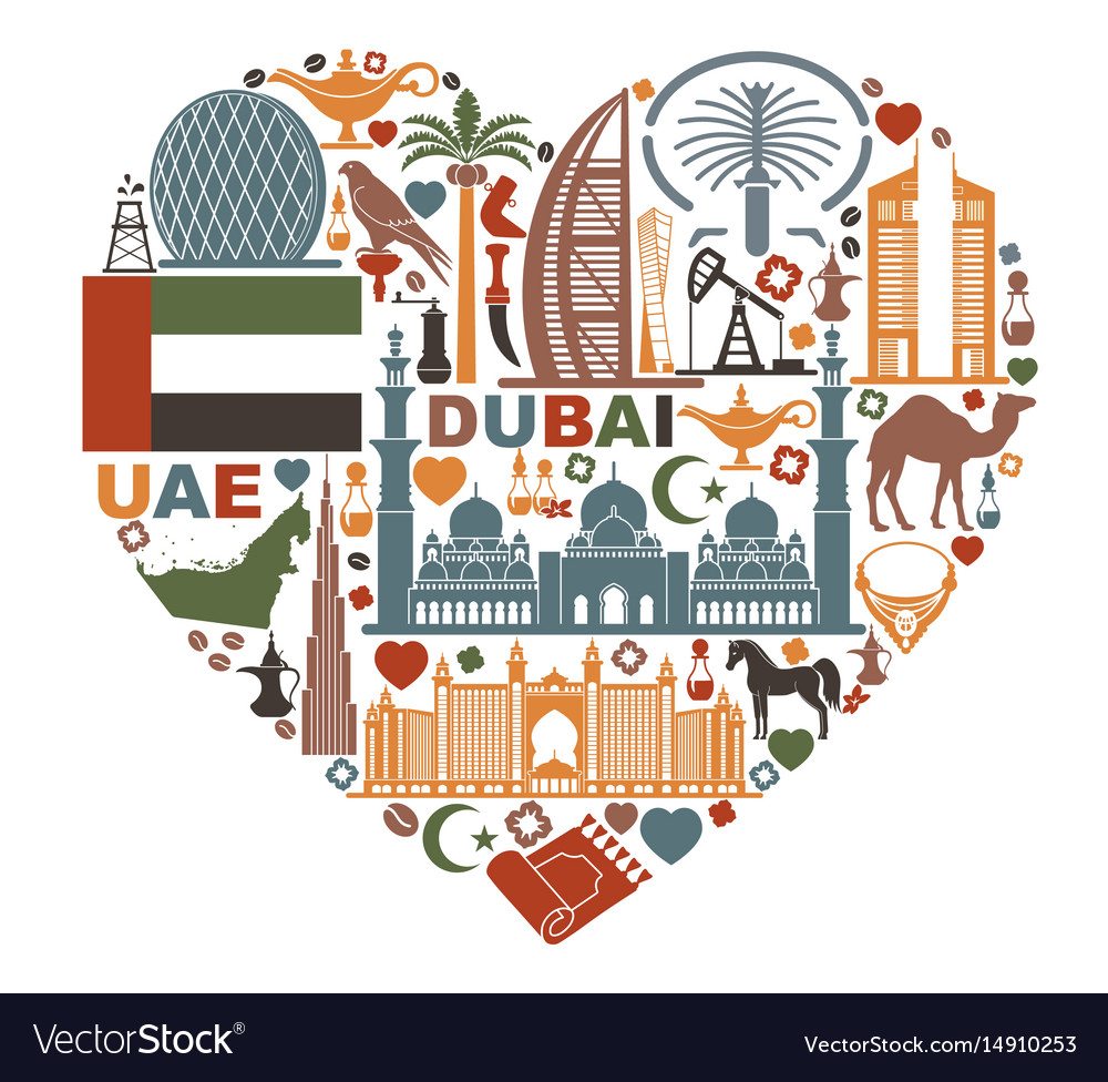 The heart is composed of the traditional symbols