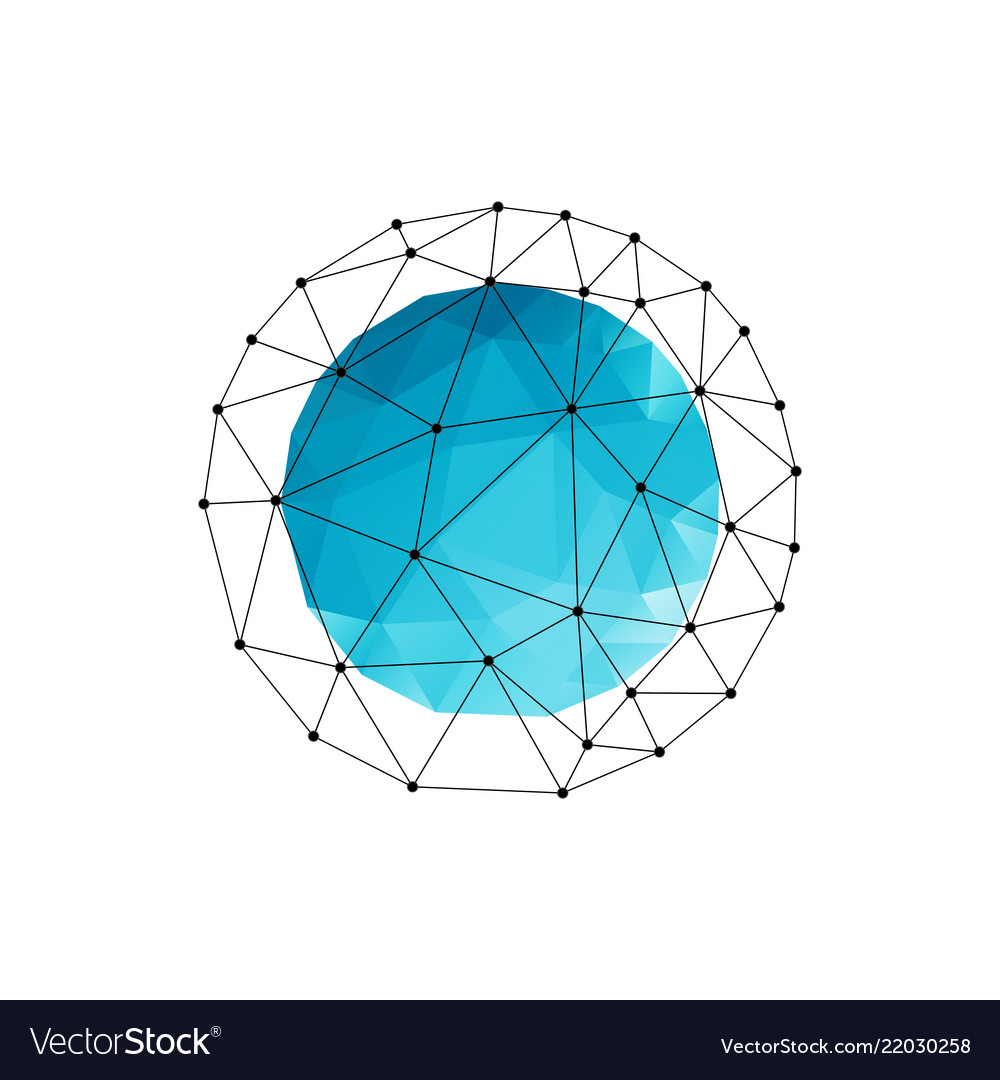 Abstract geometric background with blue