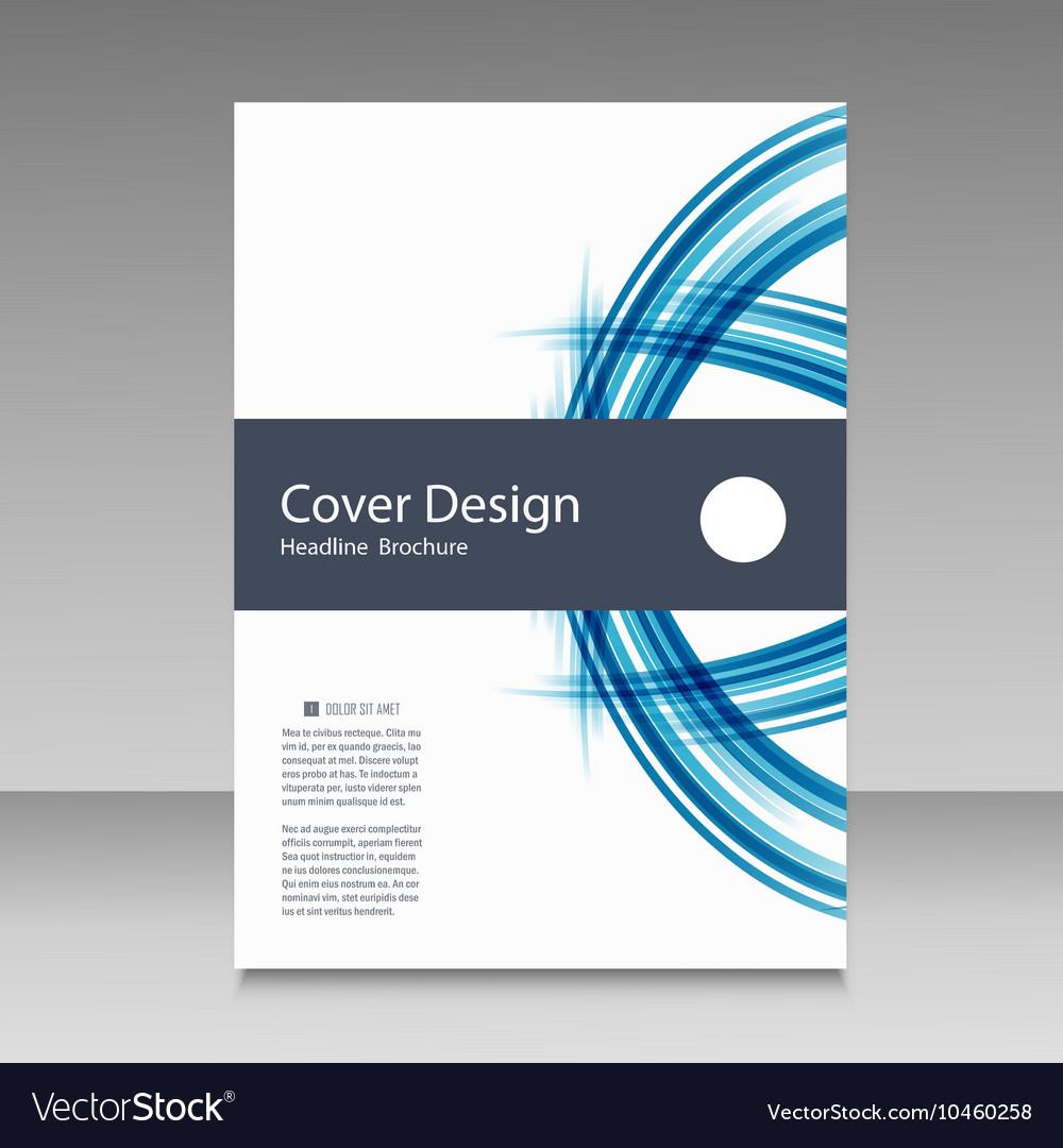 Abstract line brochure design