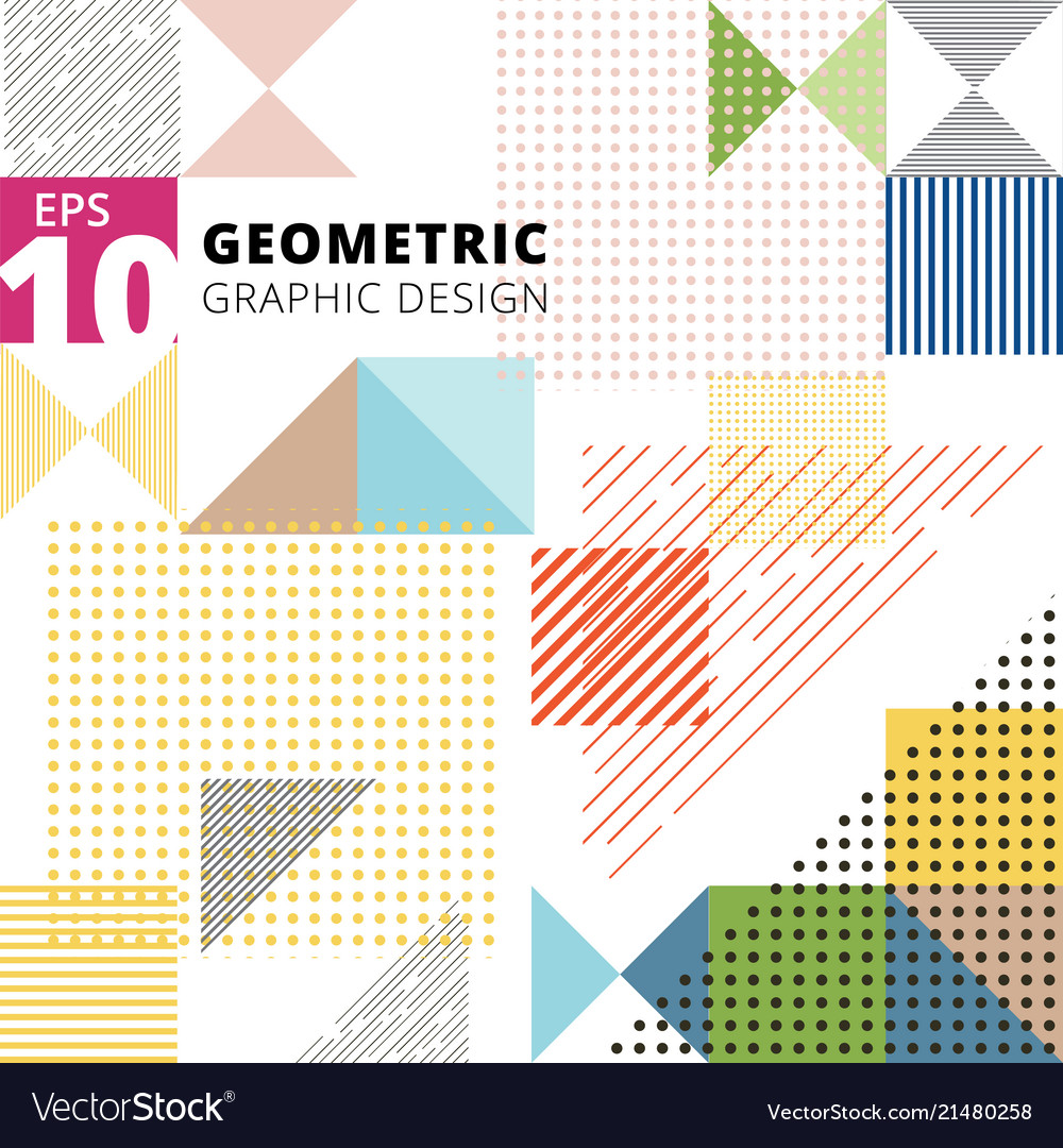 Abstract multicolor geometric pattern trendy