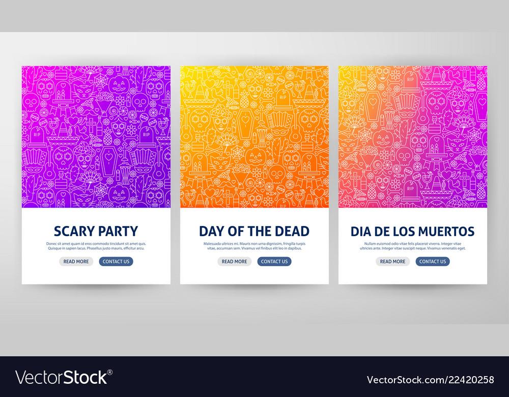 Dia de los muertos flyer concepts