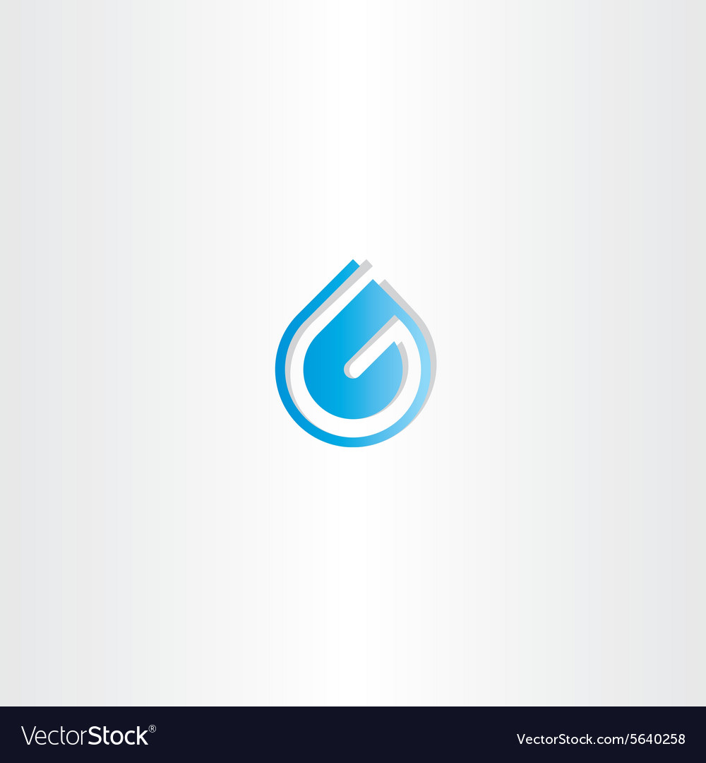 Drop of water letter g logo royalty free vector image drop of water letter g logo vector image altavistaventures Images