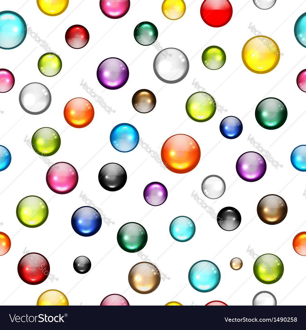 Glossy balls seamless pattern for your design