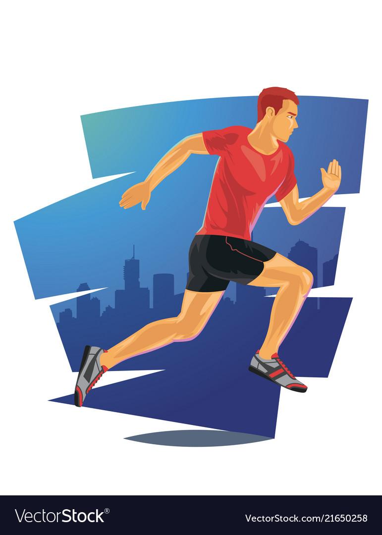 Running man in detailed