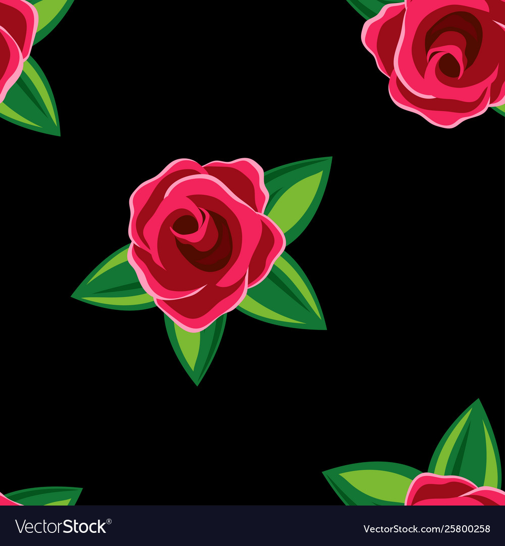 Simple seamless floral roses pattern