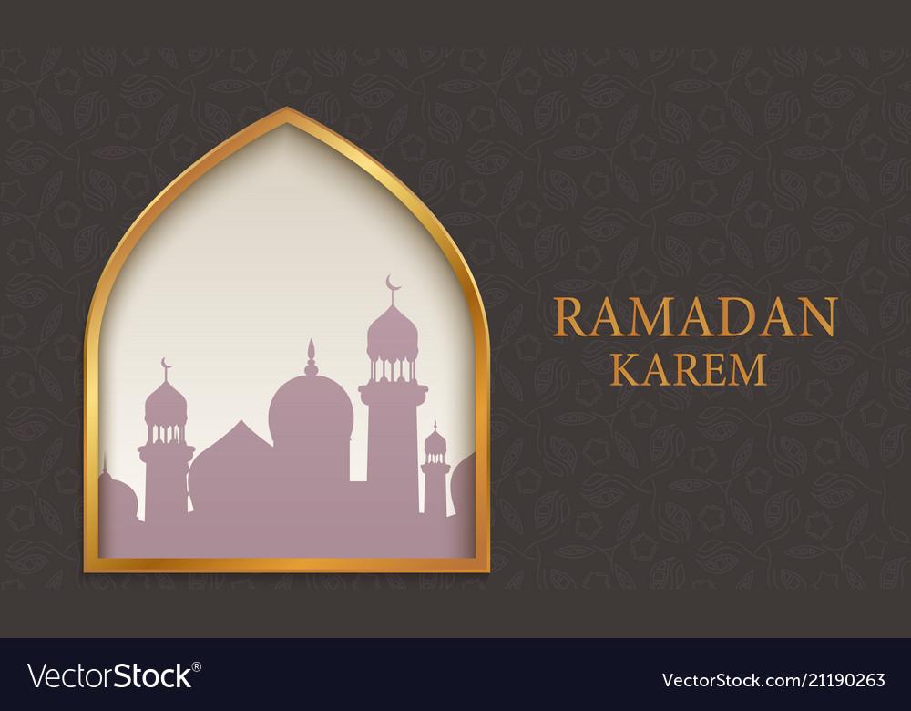 Arab mosque on dark background