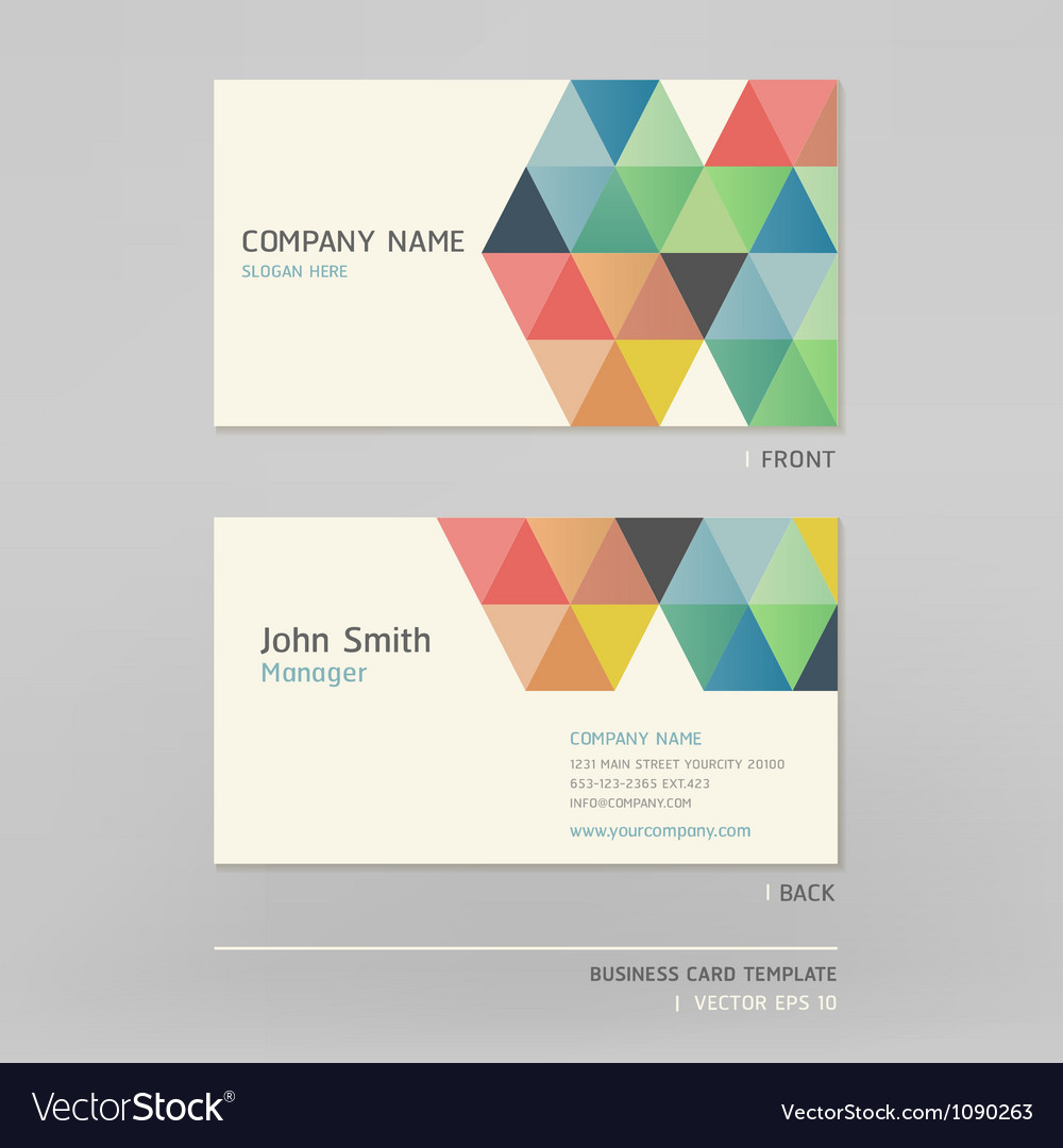 Business card abstract background Royalty Free Vector Image