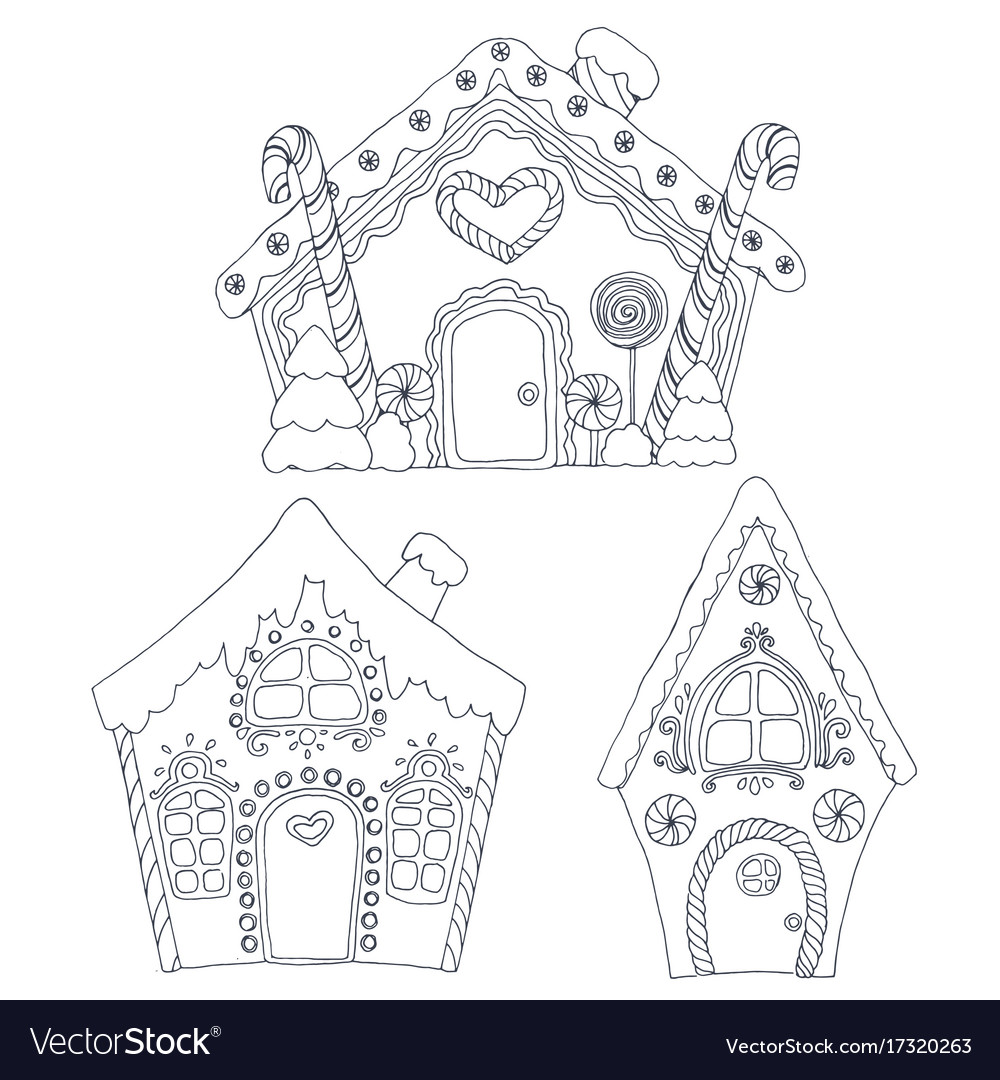 christmas coloring pages vector image