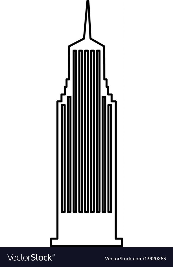 Cloudscraper new york isolated icon vector image