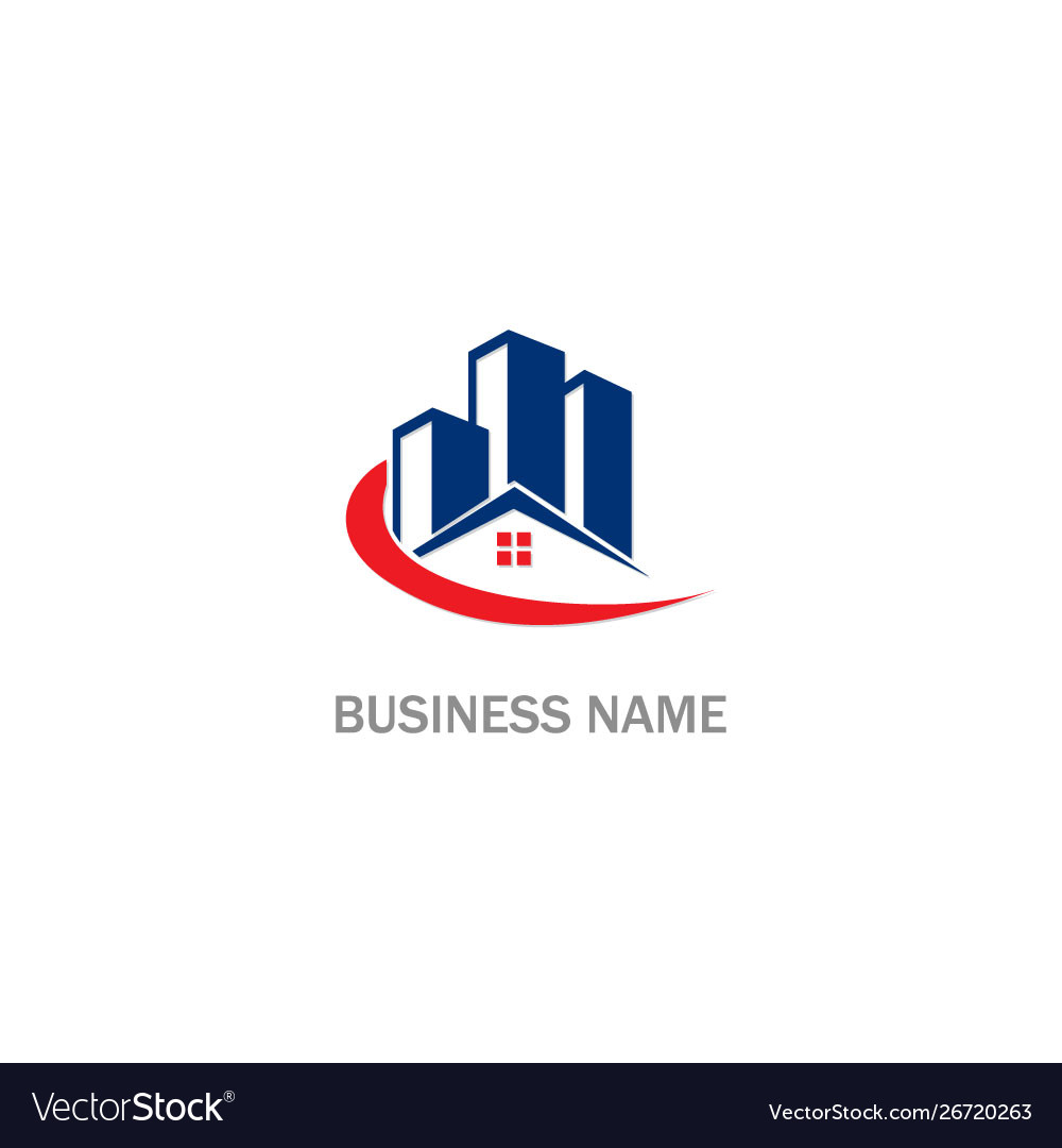 Home realty modern building logo Royalty Free Vector Image