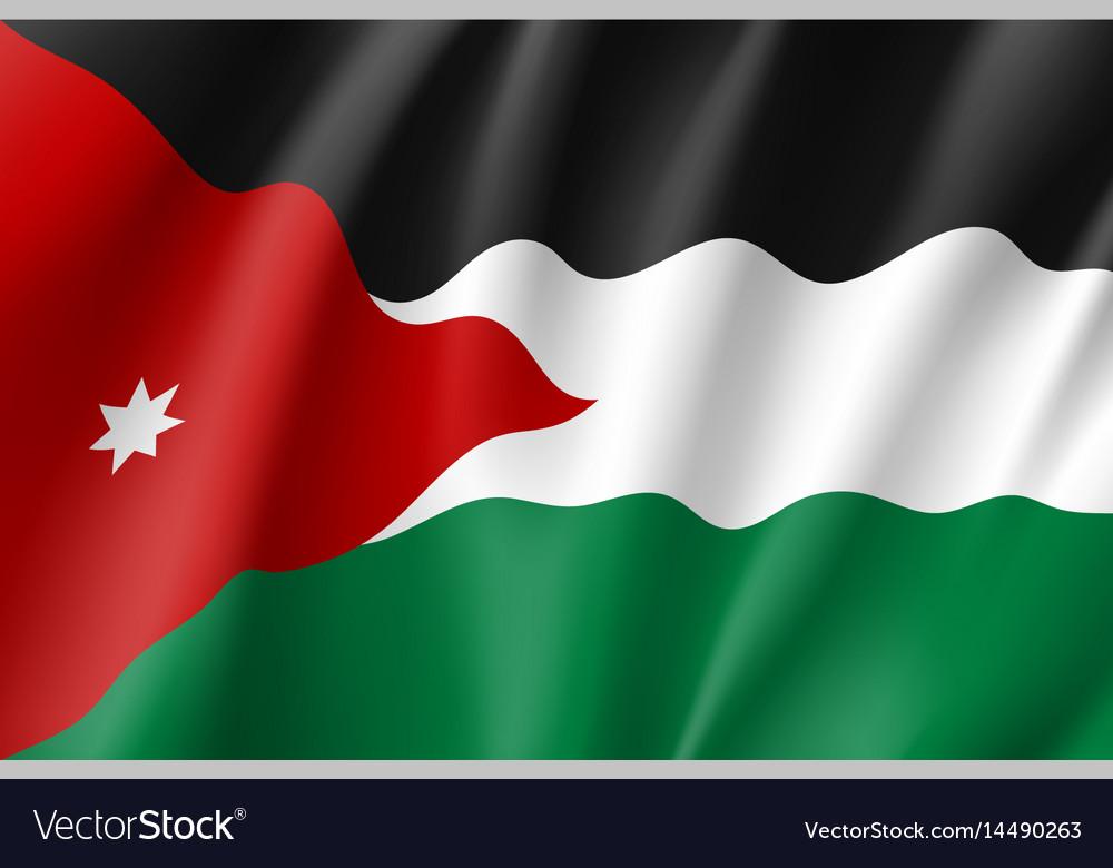 Jordan national flag vector image