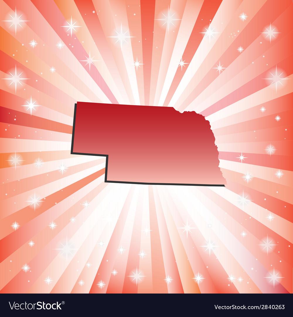 Red Nebraska vector image