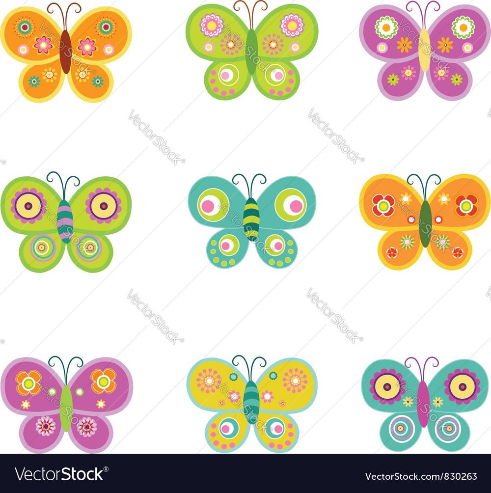 Retro Butterflies