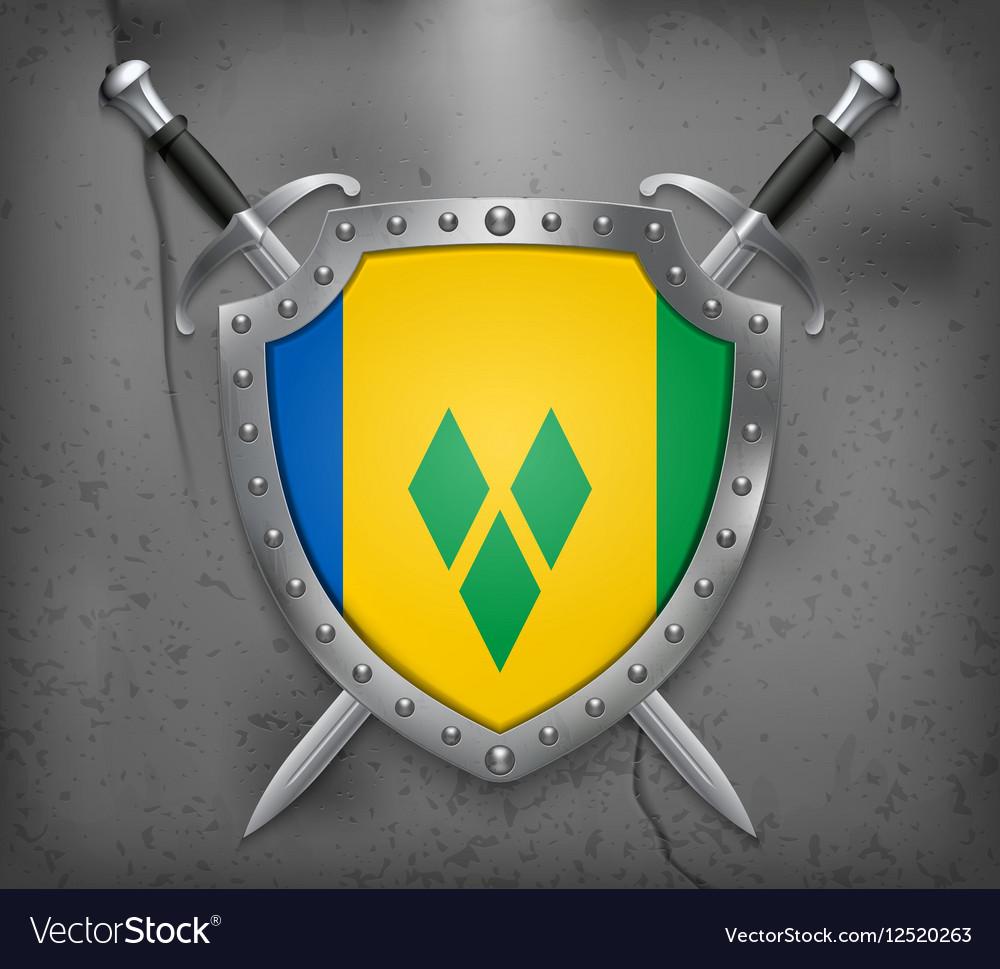 Saint Vincent and Grenadines Medieval Background vector image