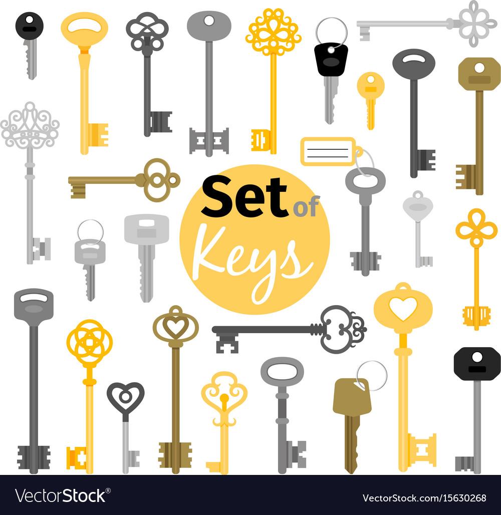 Antique and modern keys
