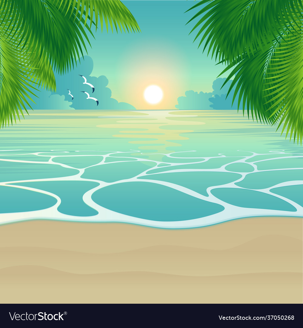 Bay tropical beach background