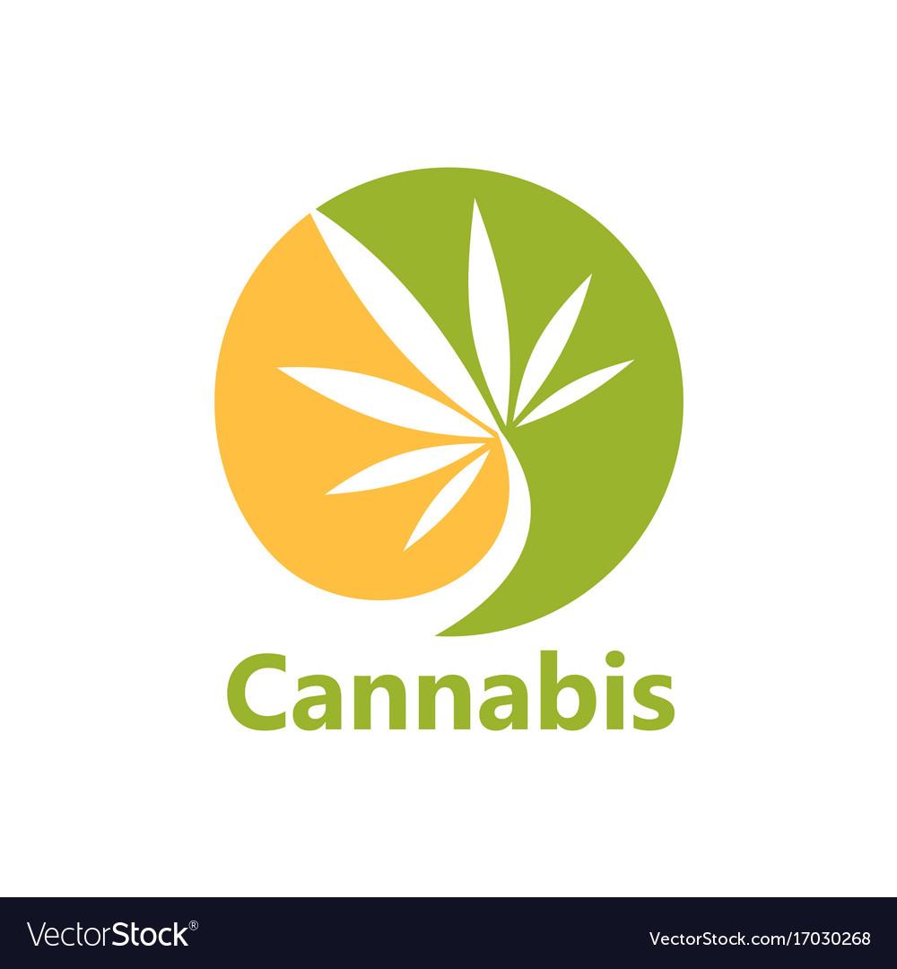 Cannabis leaf medical logo