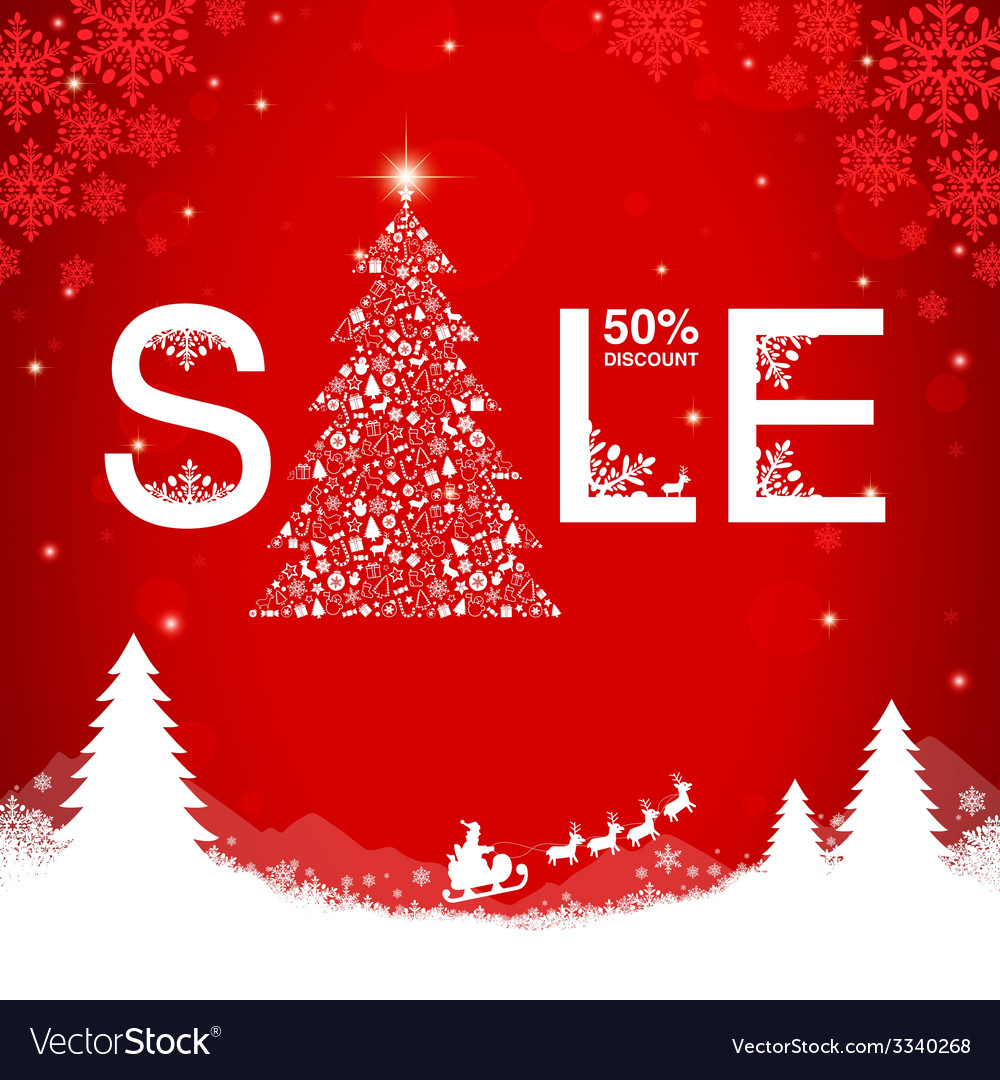 Christmas Sale Discount Royalty Free Vector Image