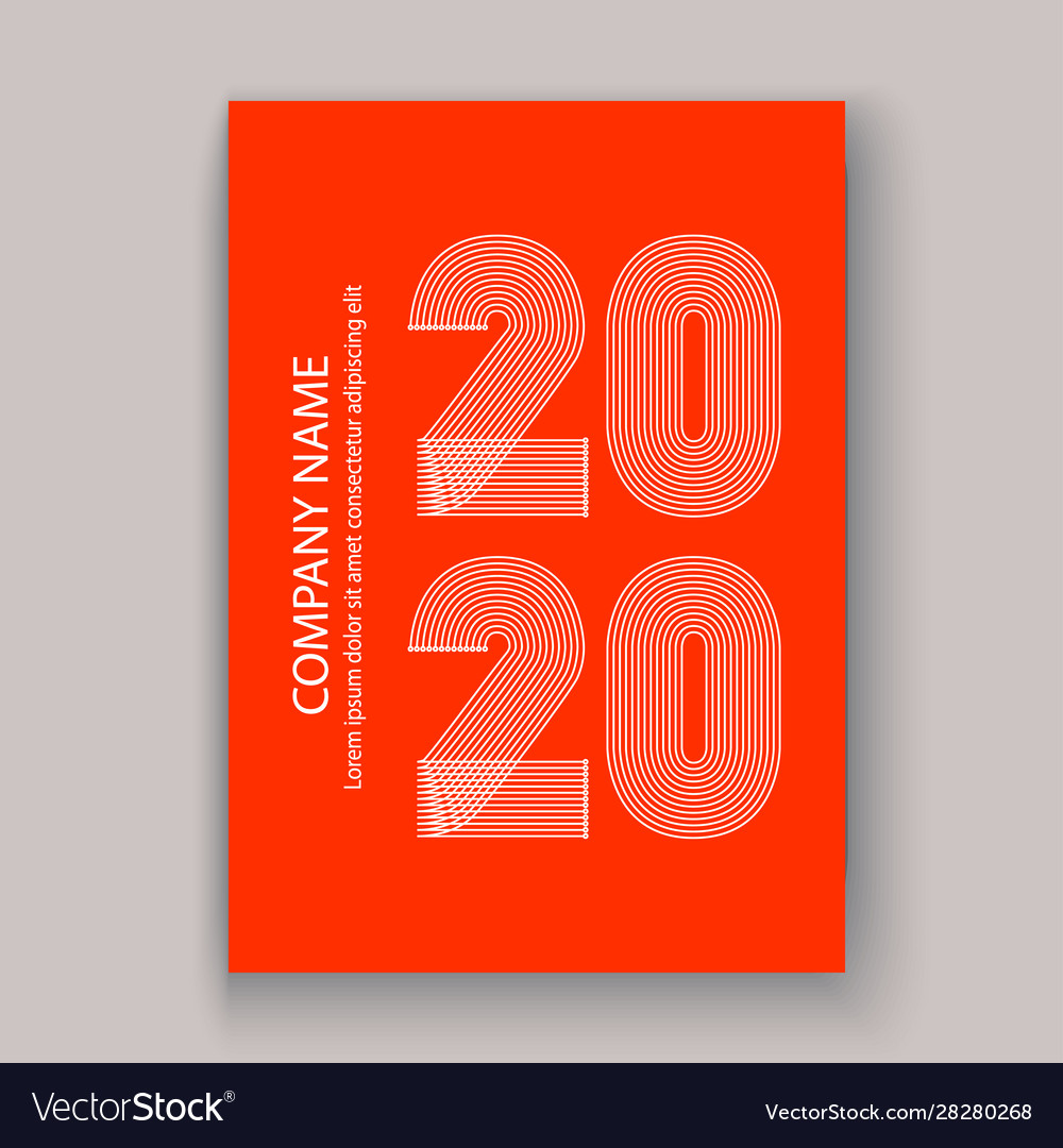 Cover annual report numbers 2020 in thin lines