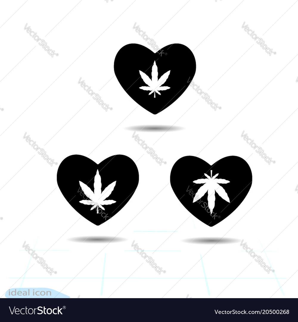 Heart black icon love symbol the silhouette
