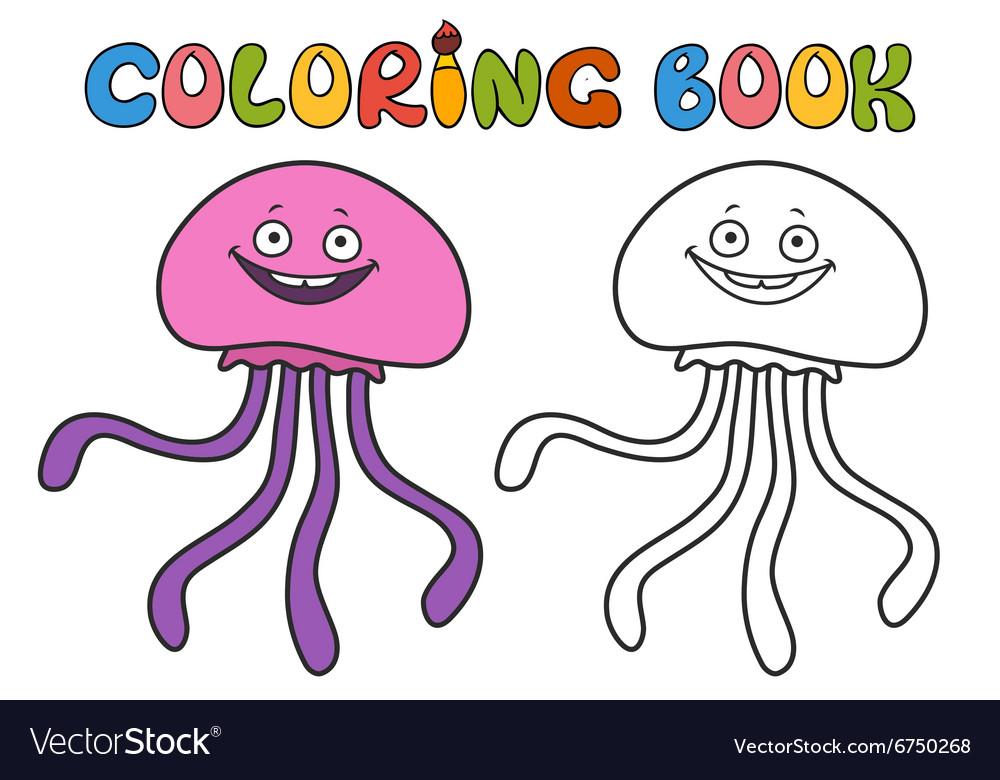Jellyfish coloring book