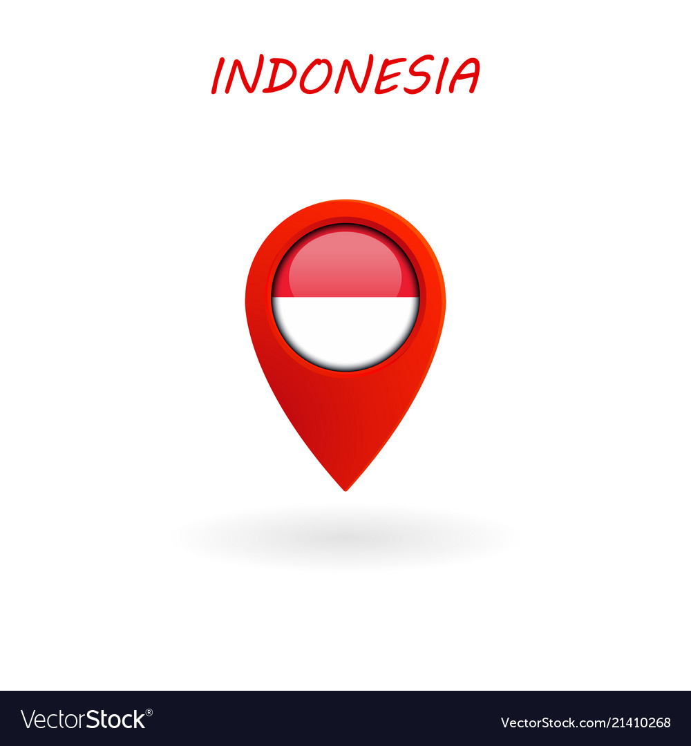 Location icon for indonesia flag