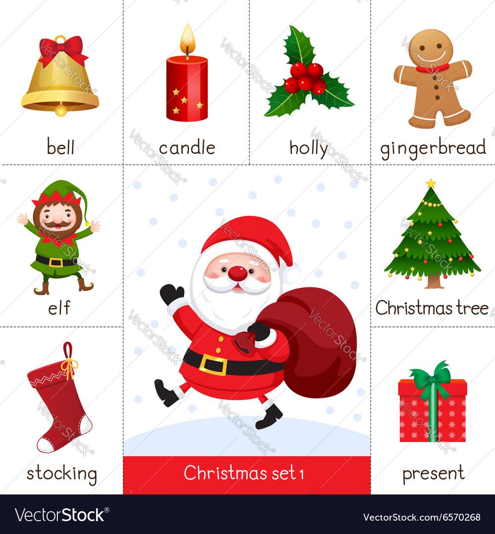 photo regarding Santa Printable known as Printable flashcard for Xmas fastened and Santa Cl