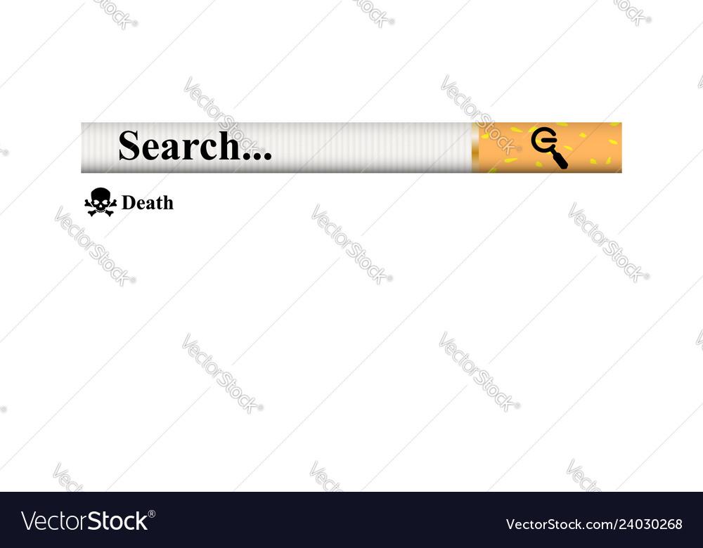 Searchingstruggle of nicotine addiction simple