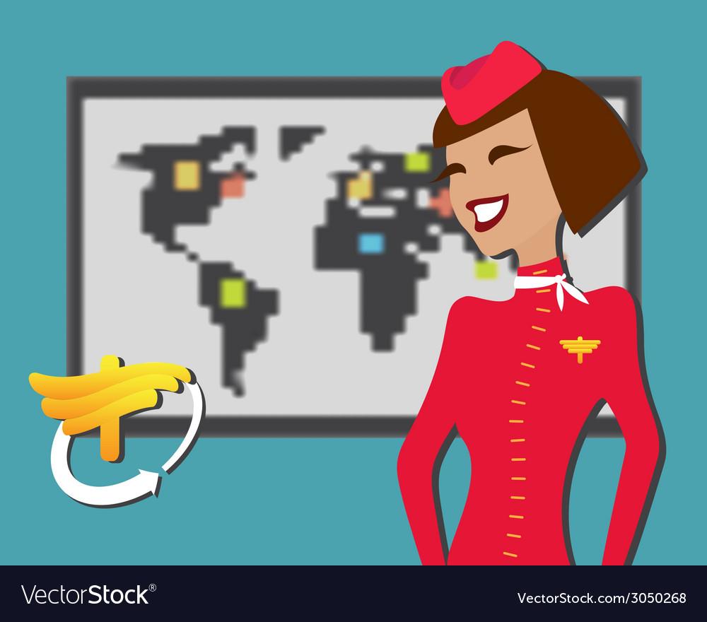 Stewardess welcomes aboard aircompany