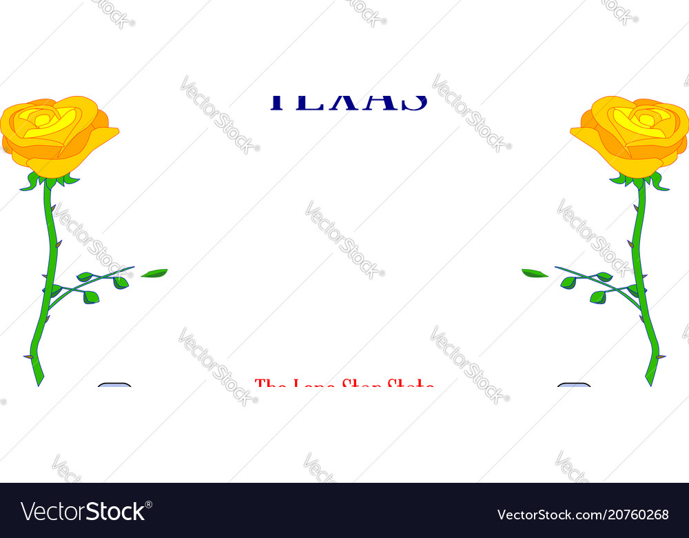 Texas Yellow Rose License Plate Royalty Free Vector Image