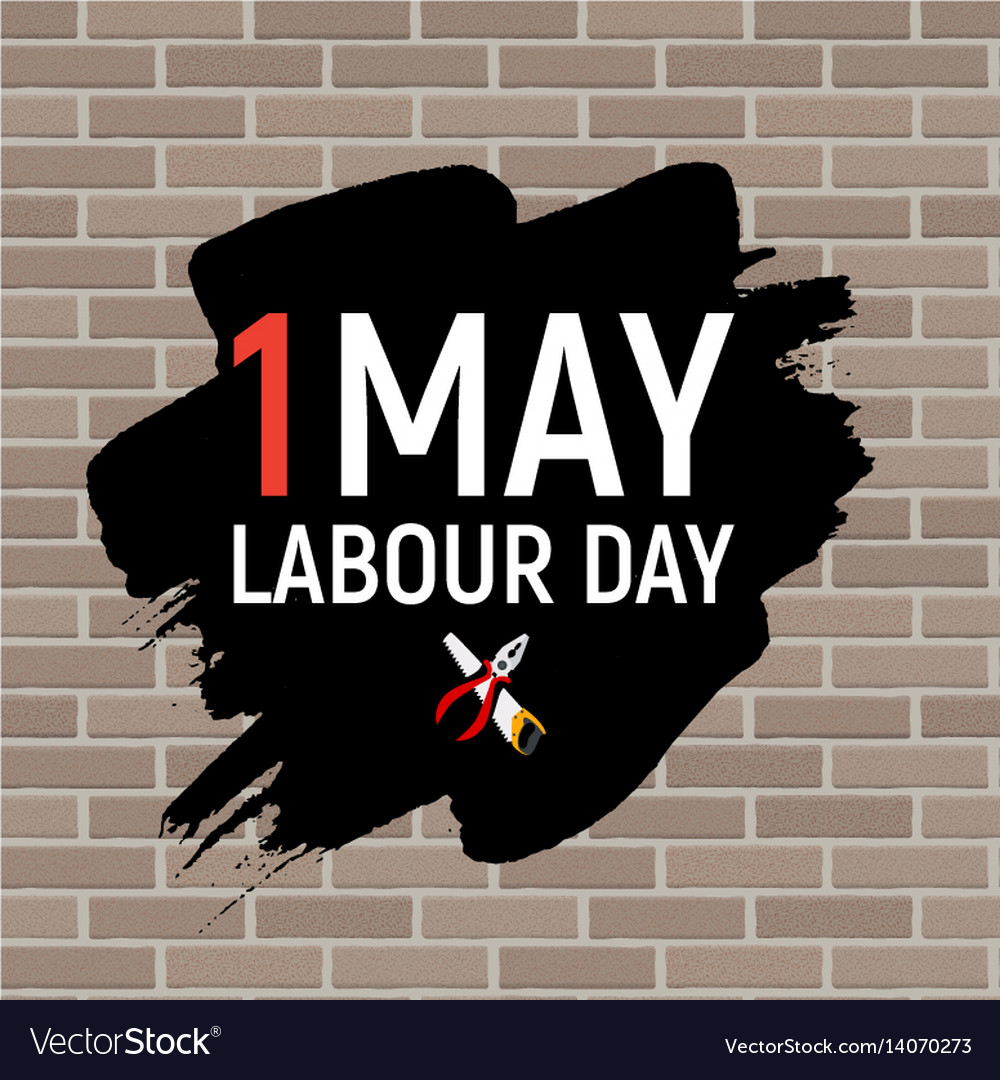 1 may labour day poster or banner