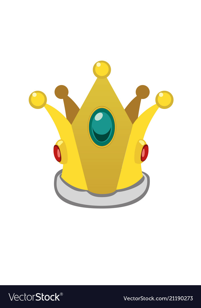 A isolated cartoon golden crown