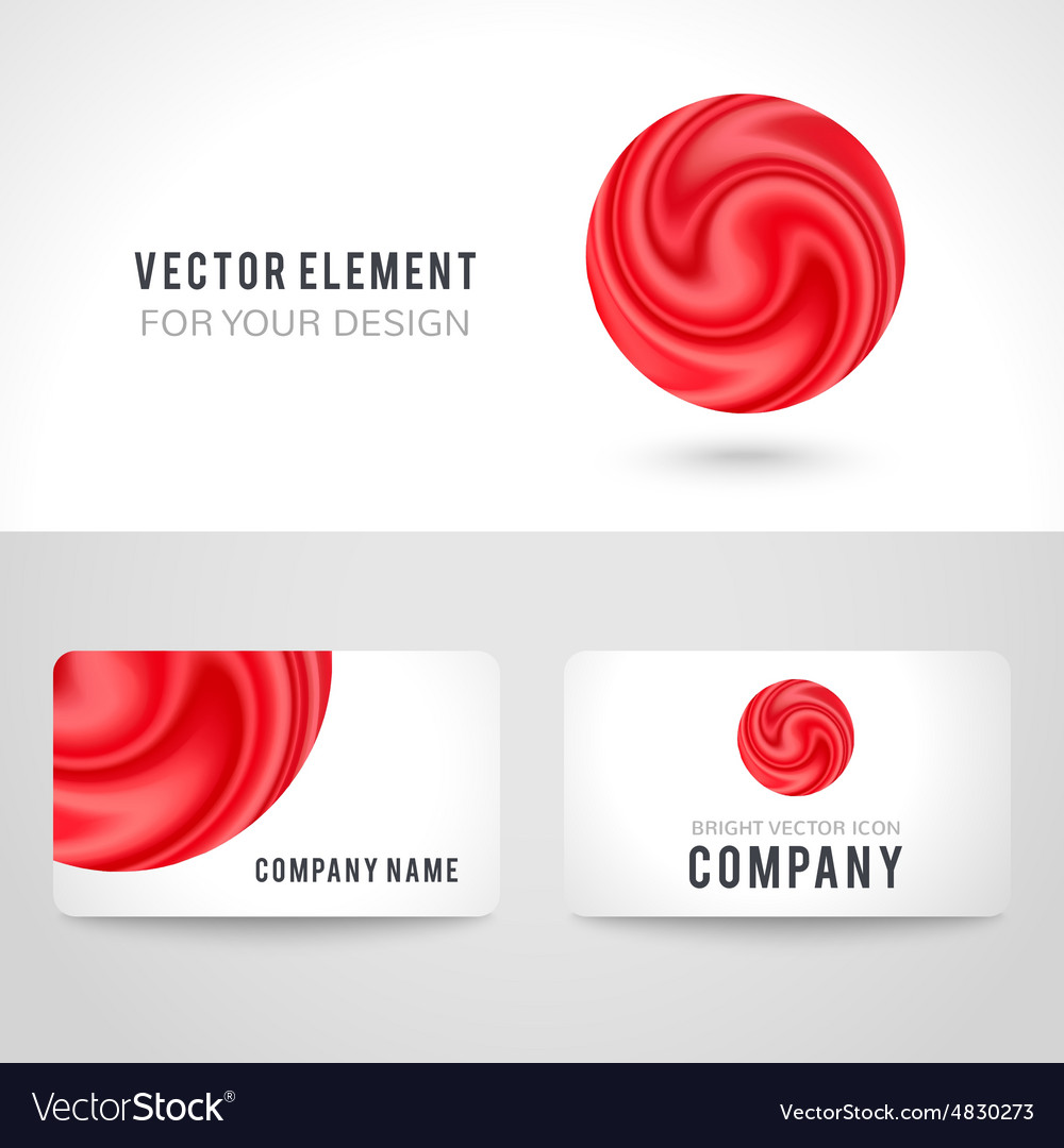 Business card template set abstract red circle vector image cheaphphosting Images