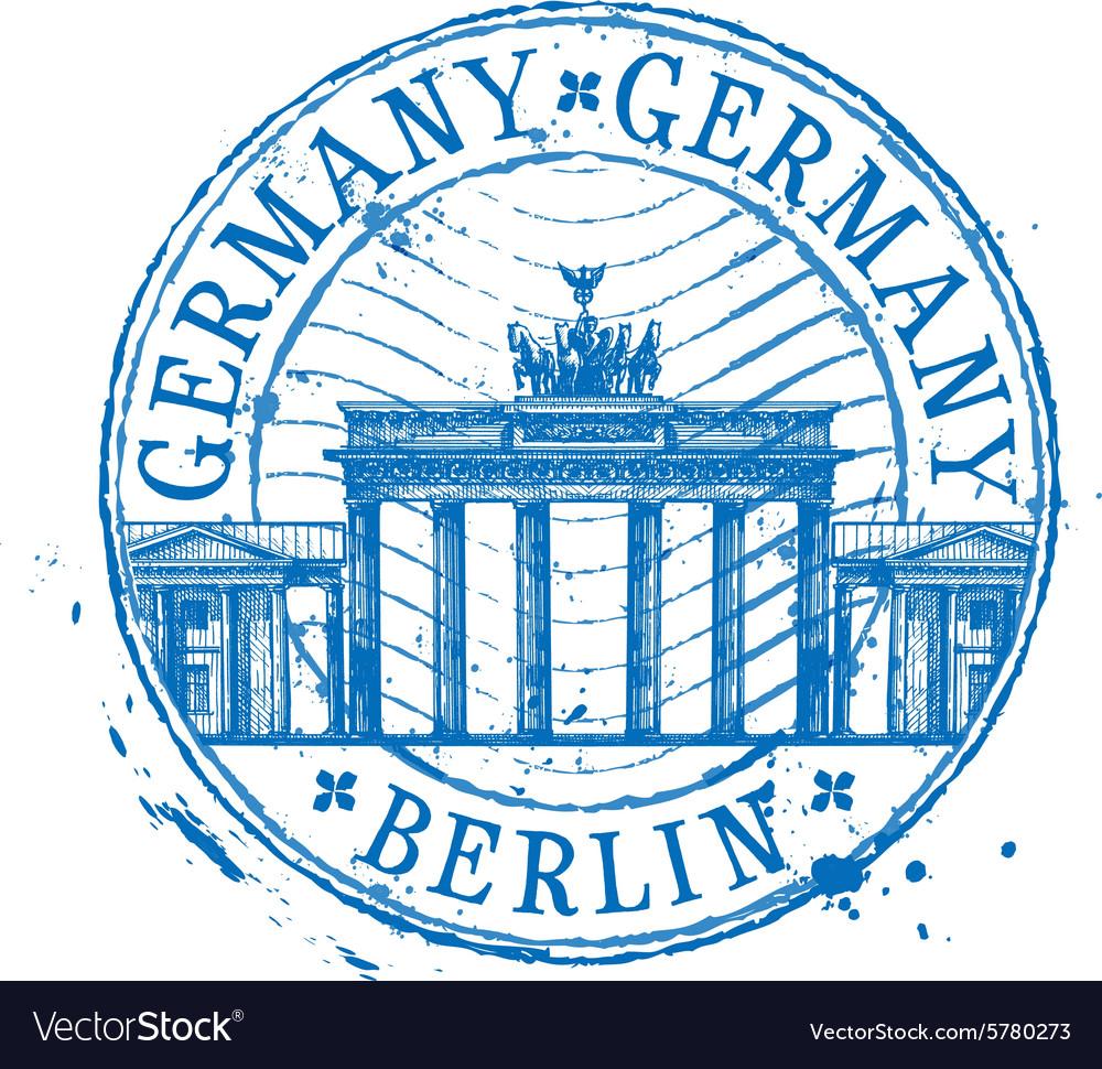 Germany logo design template Shabby stamp