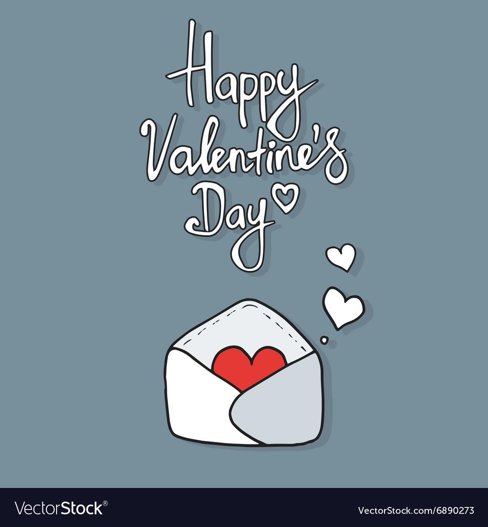 Hearts take off from inside open envelope