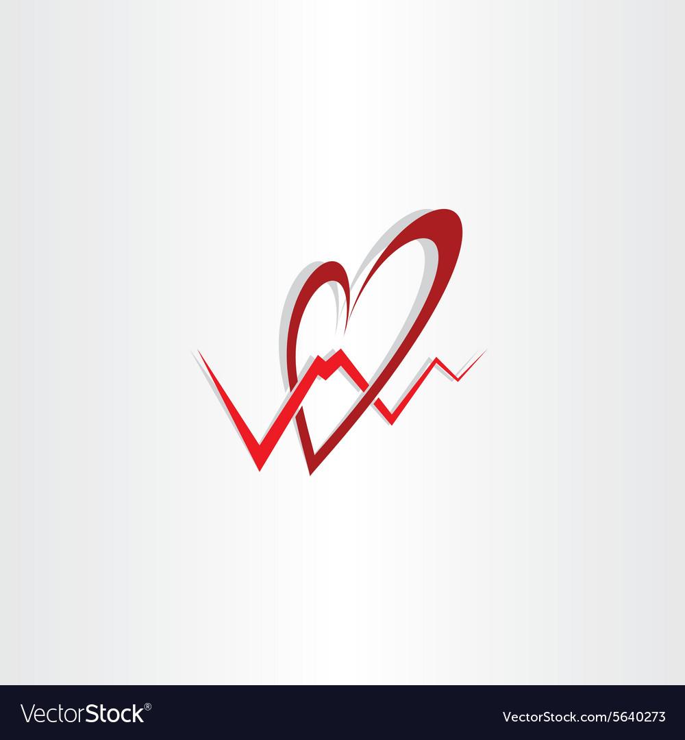 Human heart medical cardiology logo