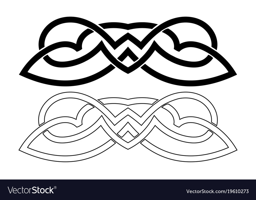 Scandinavian Viking Ornaments Royalty Free Vector Image