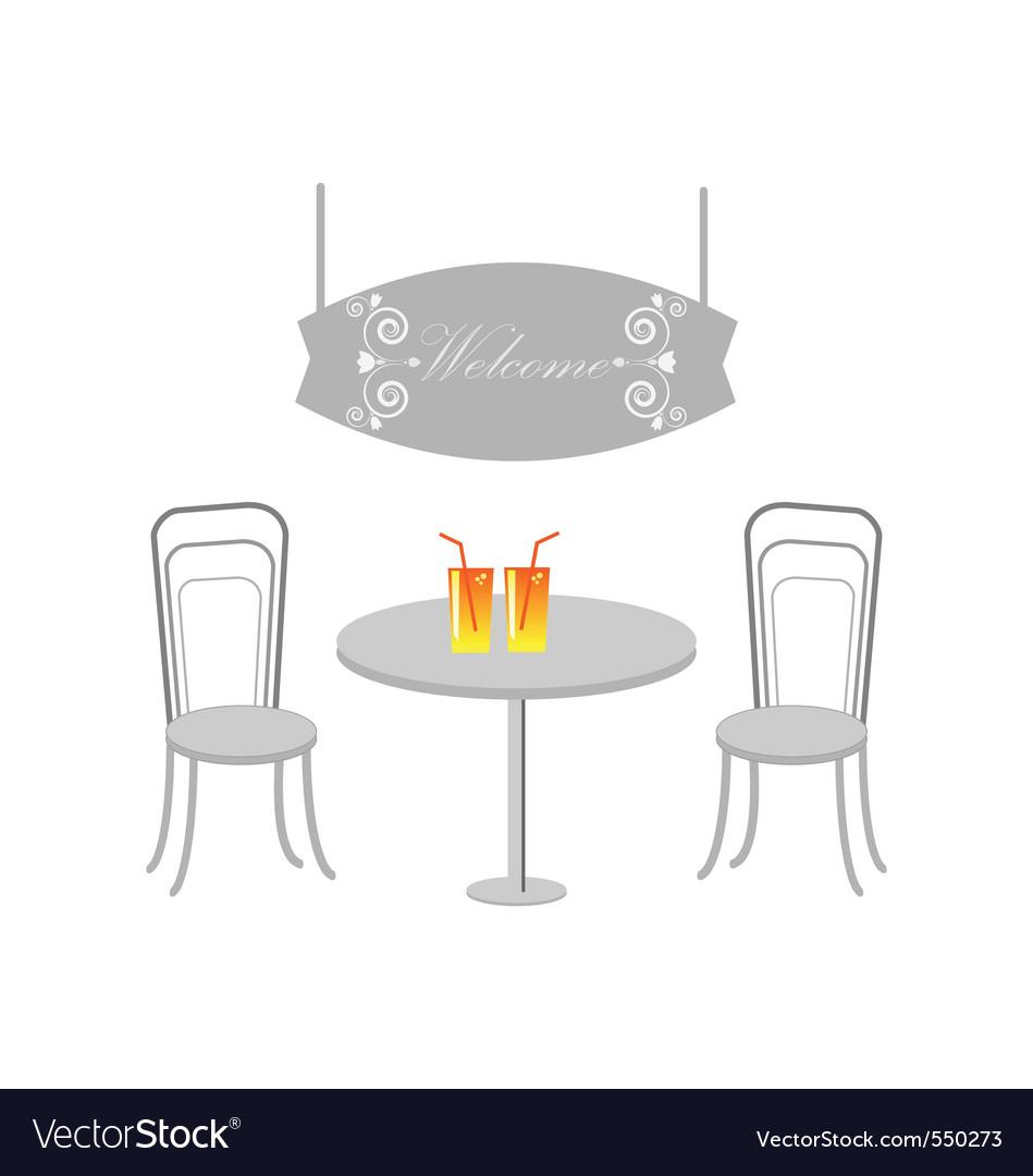 Vector restaurant menu design vector image