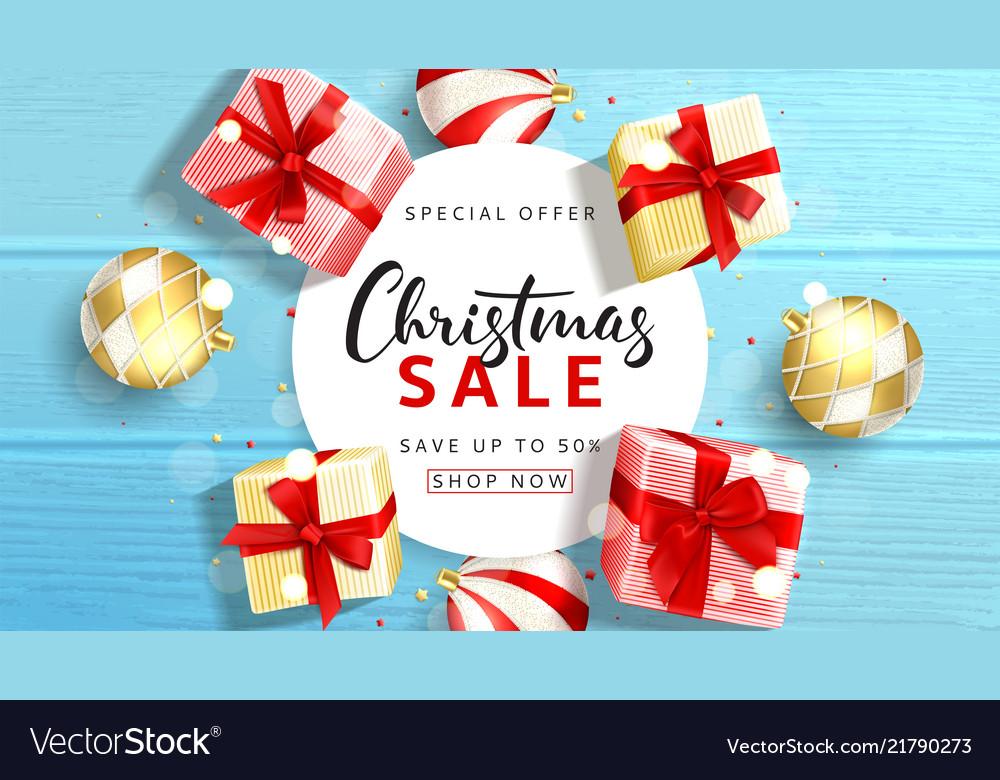 Web banner for christmas sale