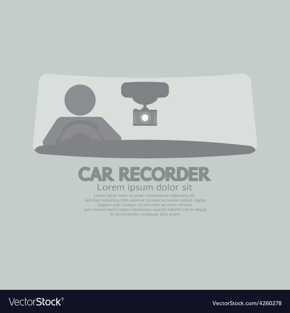 Car Recorder Graphic Symbol