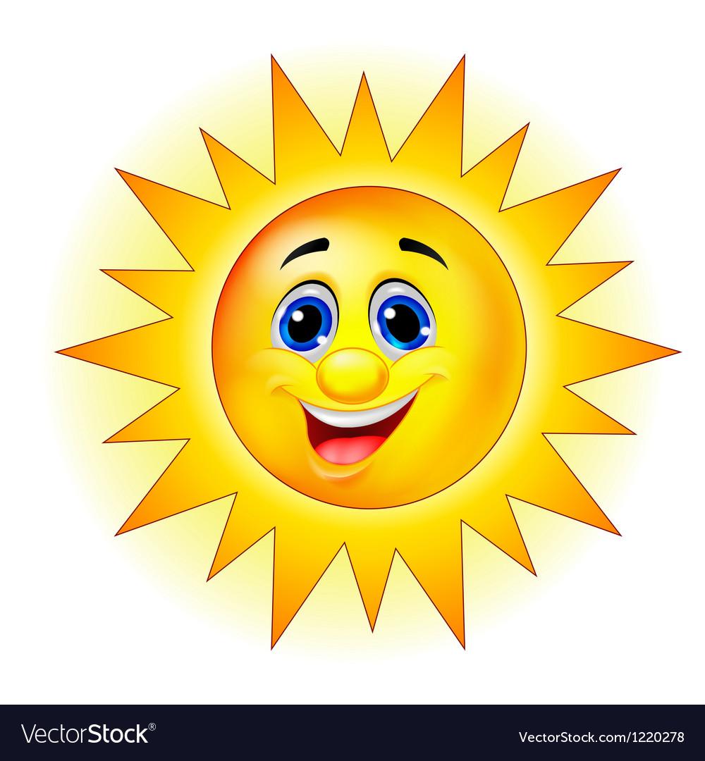 Cute Sun Cartoon Royalty Free Vector Image - VectorStock