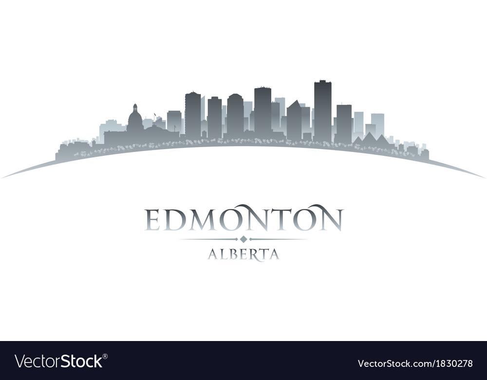 Edmonton Alberta Canada city skyline silhouette