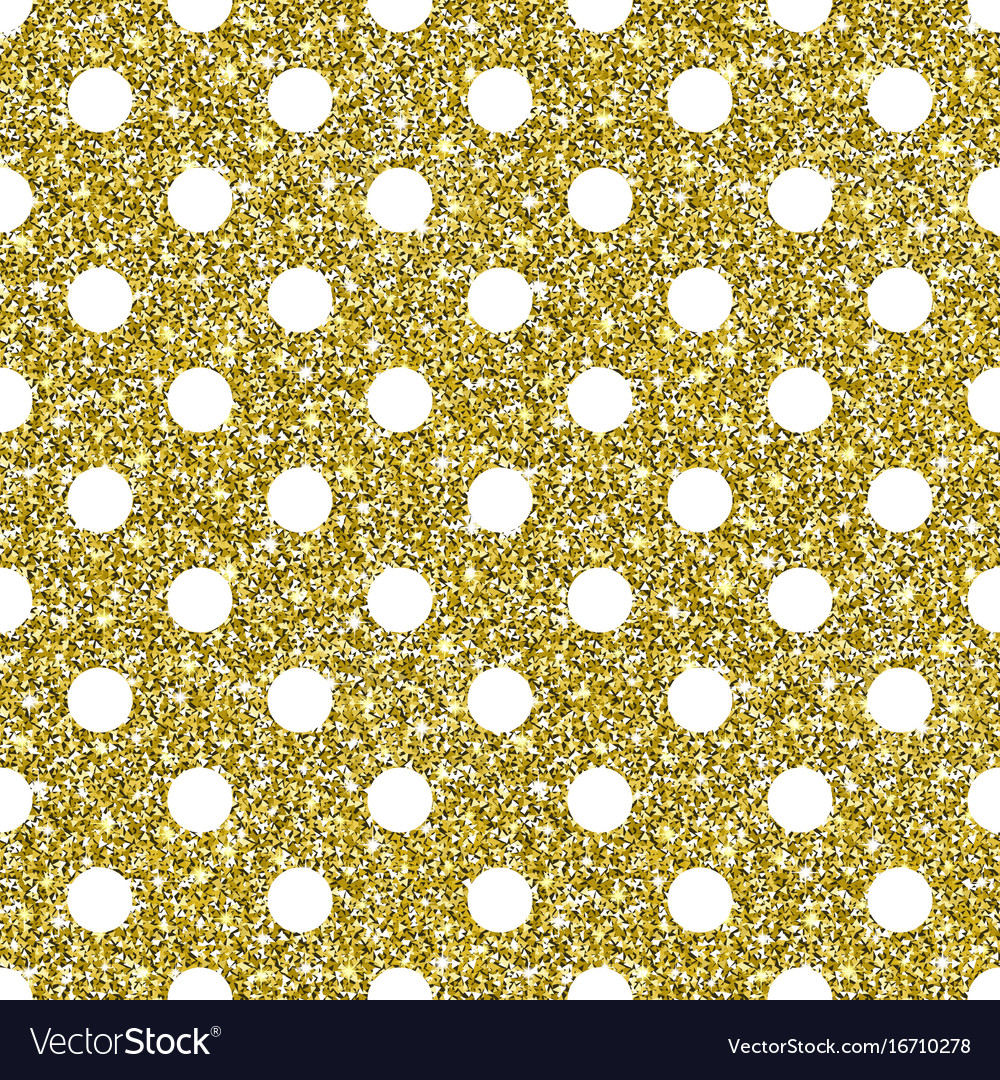 gold glitter dots pattern background vector image