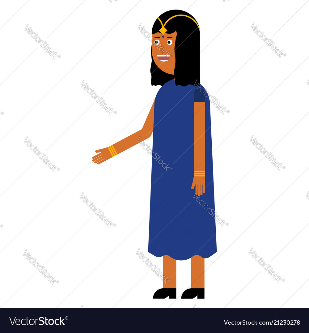 Indian woman flat icon
