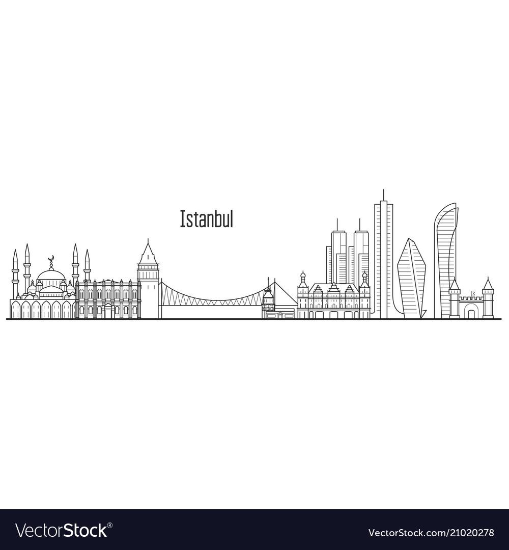 Istanbul city skyline - towers and landmarks