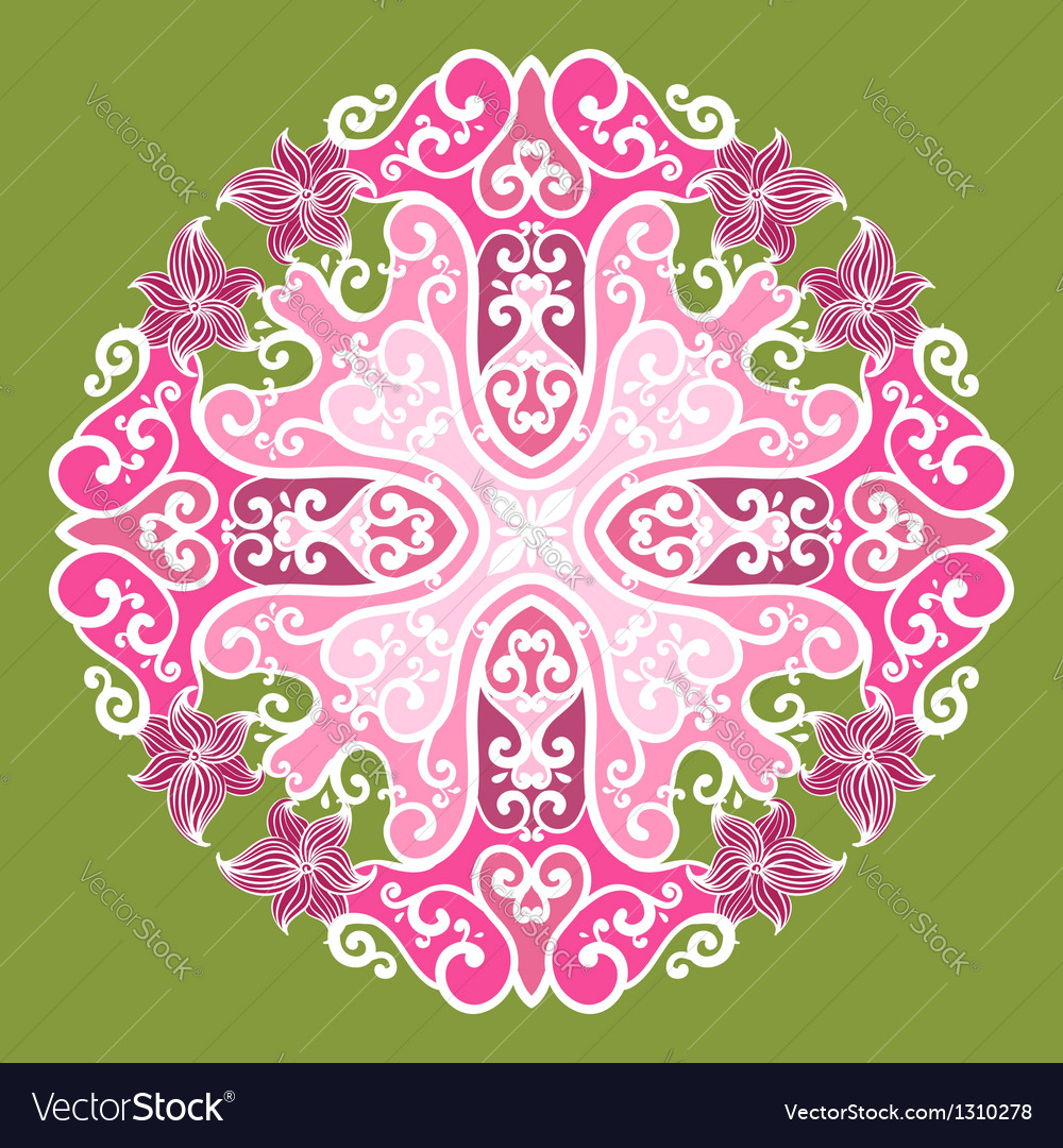 Ornamental round lace in fantasy style