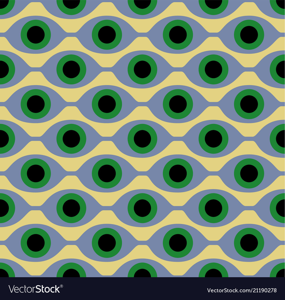 Seamless pattern with eye like shapes