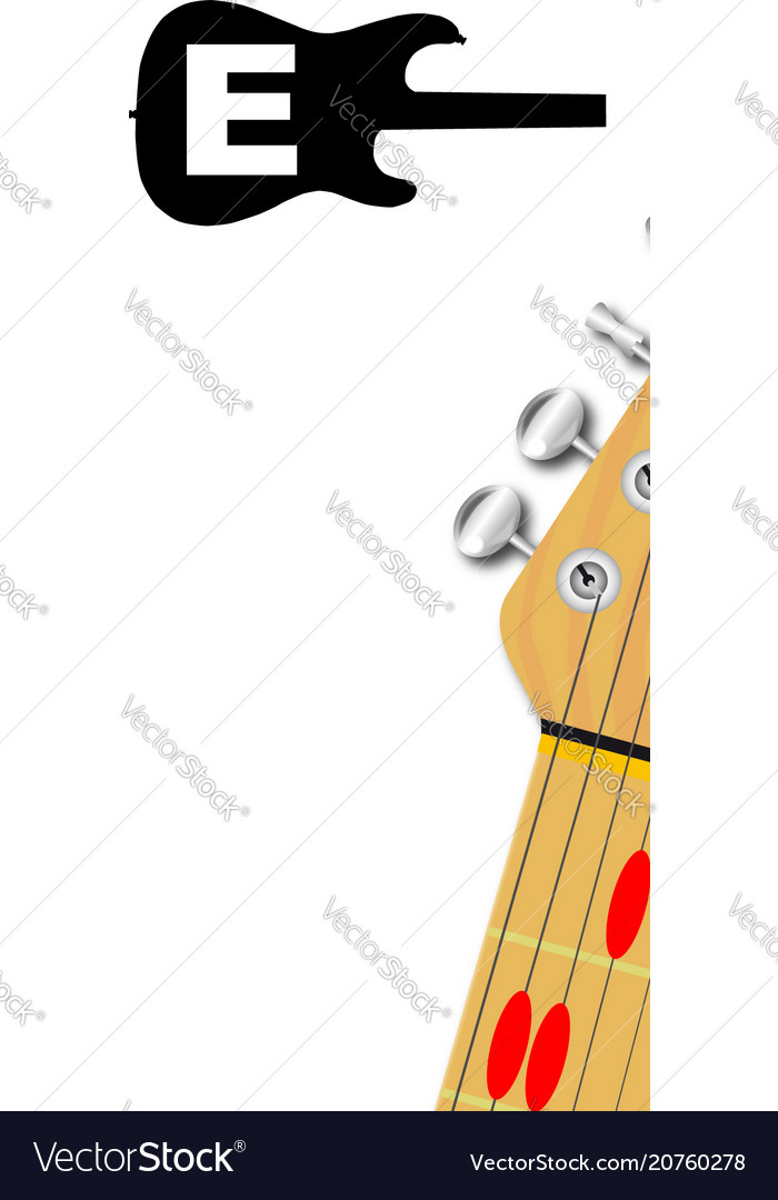 The Guitar Chord Of E Major Royalty Free Vector Image