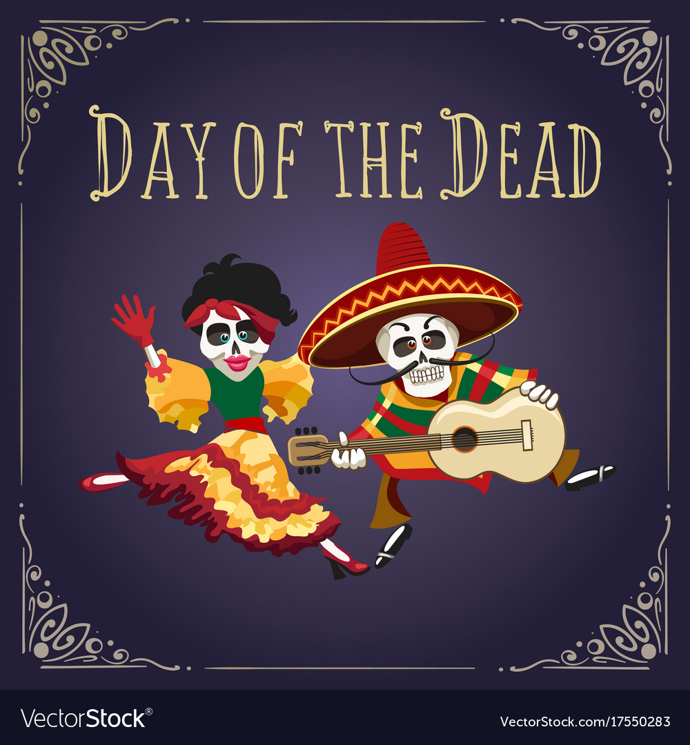 Day of the dead mexican holiday poster
